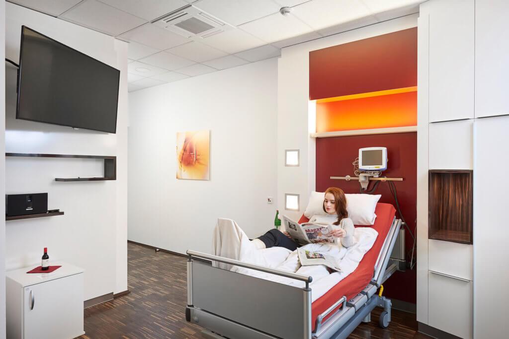Lidmed Kunibertsklinik Patientenzimmer