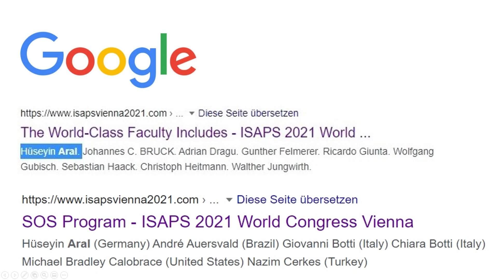 Google ISAPS 2021 Vienna